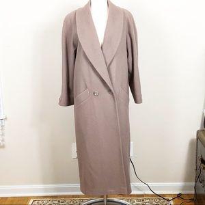 Preston & York Tan Full Length Winter Coat Sz 10